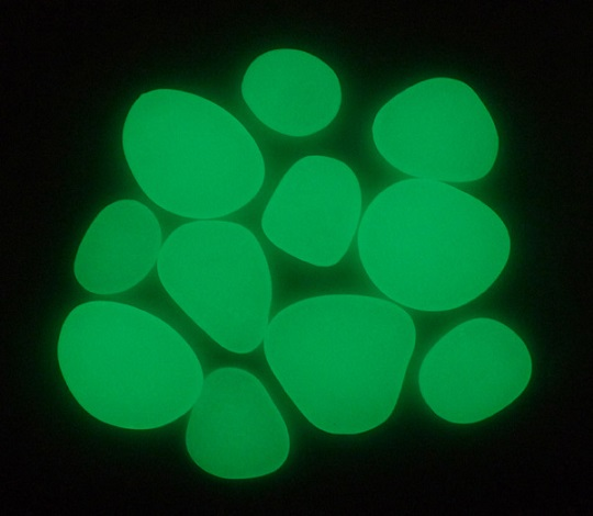 Green Glow Pebble