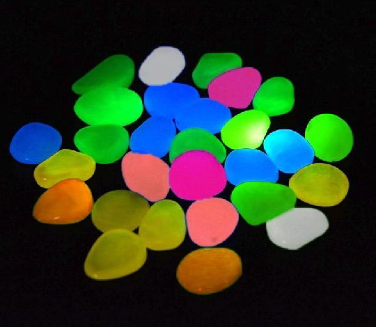 Colorful Glow pebble